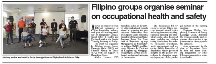 Filipino groups organise seminar